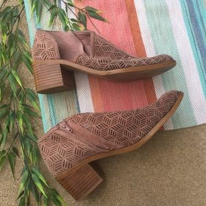1. State Iddah Perforated Cutaway Booties